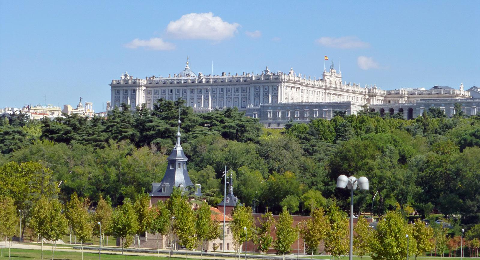 Europas största kungliga slott, Palacio Real in Madrid.