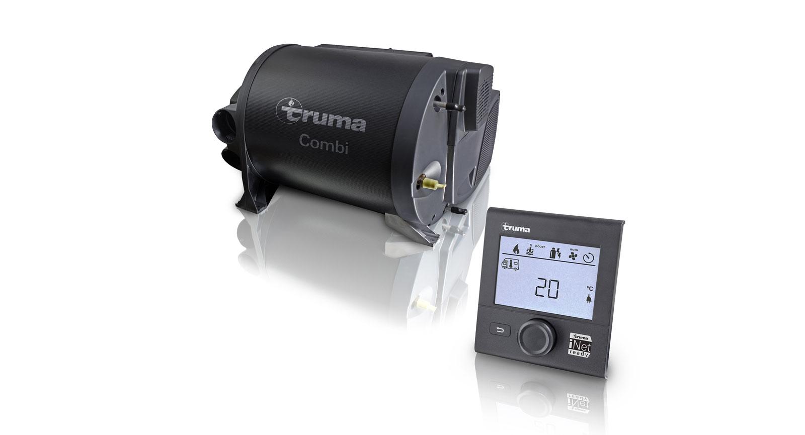 Förutom värmepannan på bilden kan även Trumas aircondition kopplas till iNet.