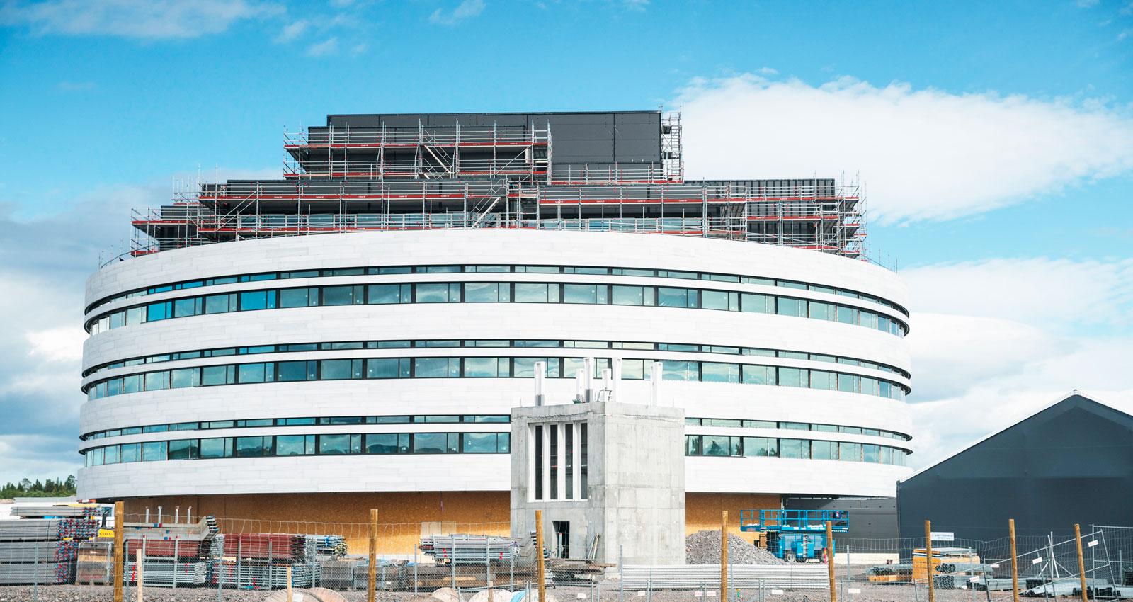Kirunas nya stadshus tar form.