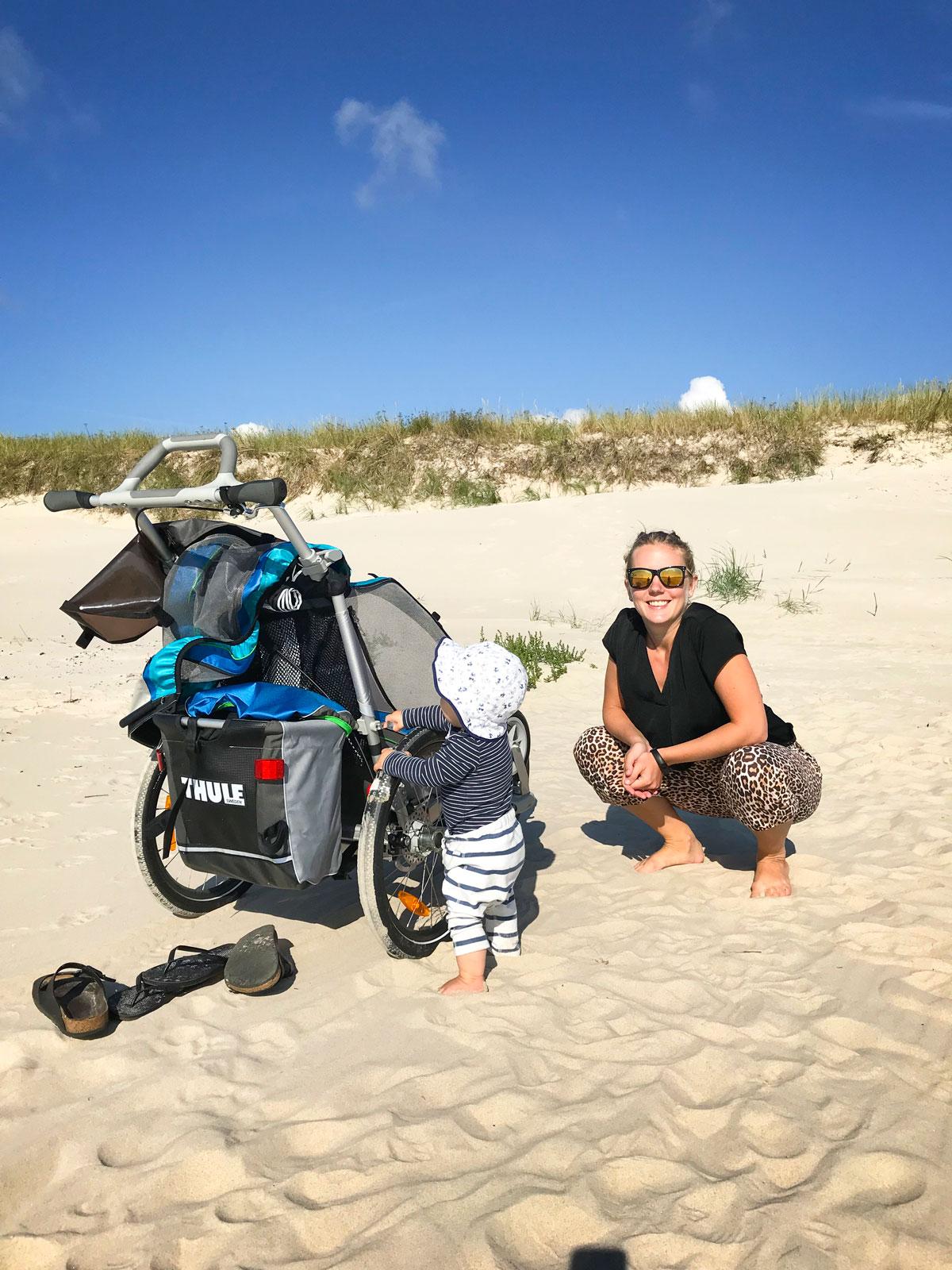 Ståträna går lika bra på Österlens strand som hemma.