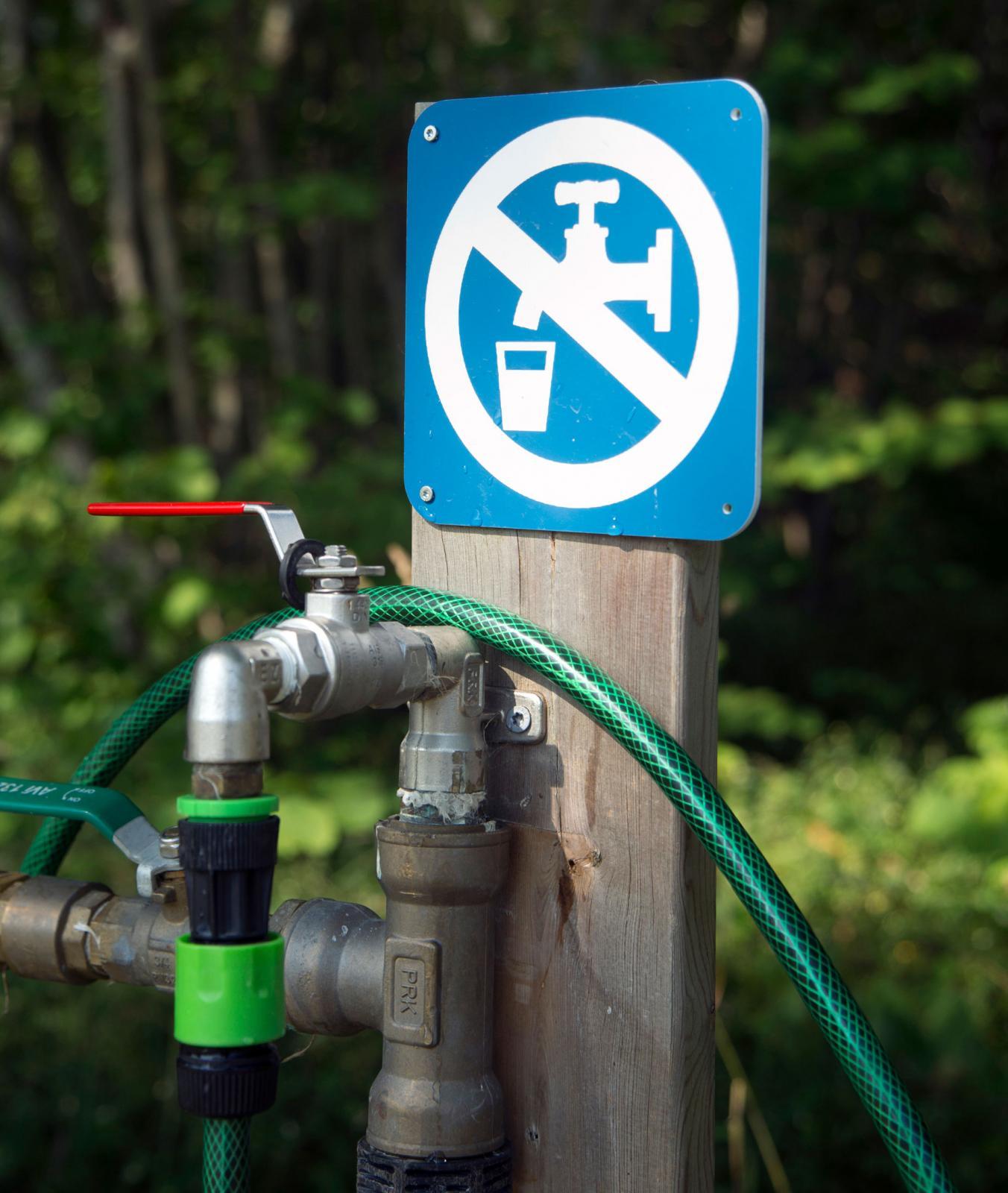 Dricksvattnet har inte testats, men tomten bredvid använder det.