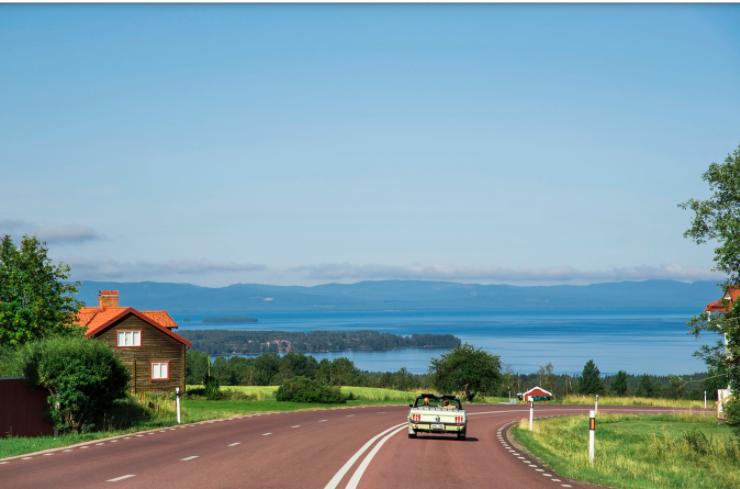 Från Söderås utanför Rättvik bjuds en milsvid utsikt över Siljan.