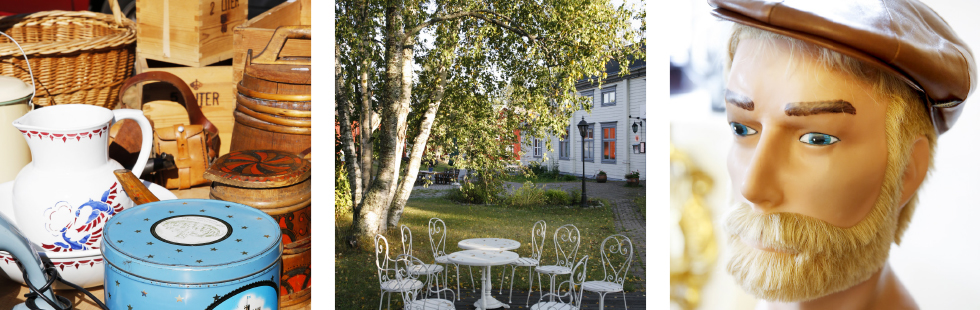 Utbudet av burkar, korgar, kärl och lådor är enormt. || Loppisen i Gammelstad hålls utanför Värdshuset varje lördag klockan nio. || Flera av landets loppisar bjuder på ett riktigt bra utbud.