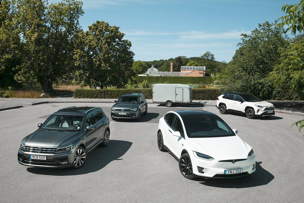 Redo för dragkamp. Bensin, diesel, hybrid och el – vilken motor klarar belastningen bäst?