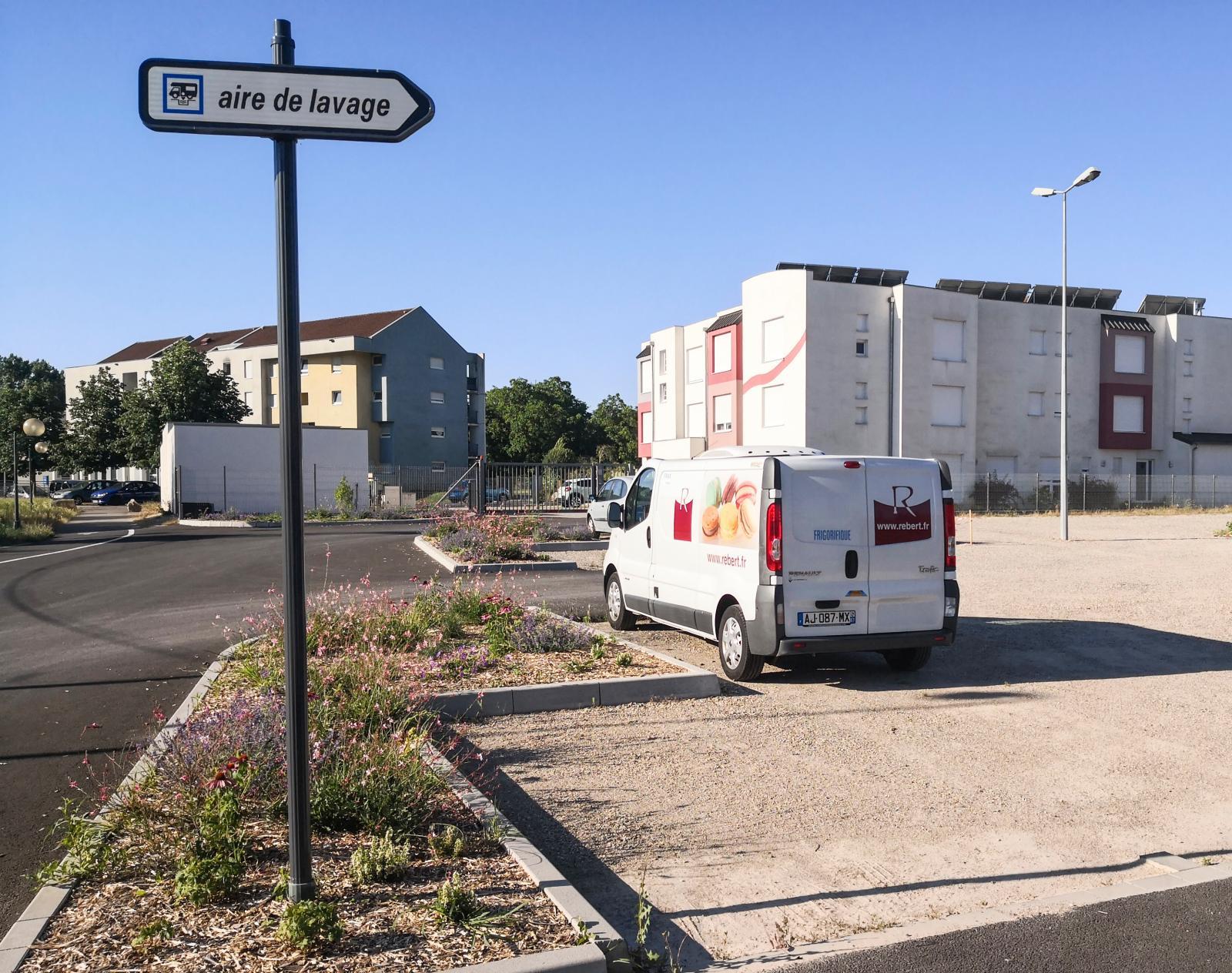 Ställplatsen i Wissembourg är centralt placerad och ingår i konceptet Camping-Car Park.
