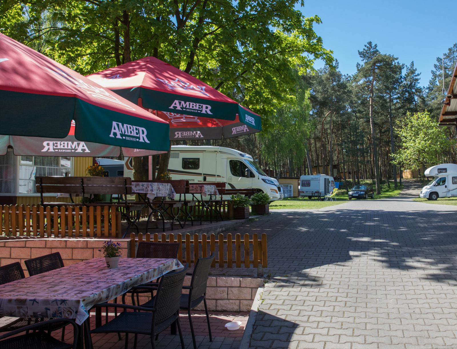 Camping Stogi 218 har ett väldigt pittoreskt läge mitt i naturen men ändå nära till stan.