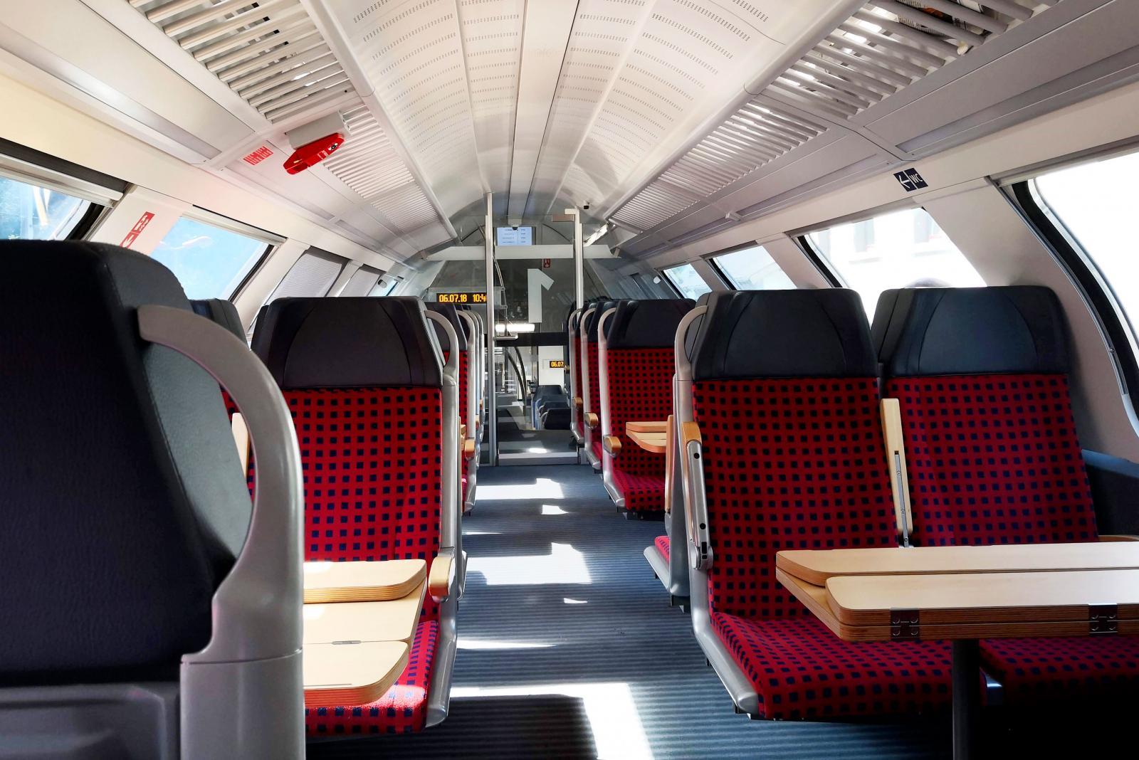 Vi tar tåget till huvudstaden Luxemburg.