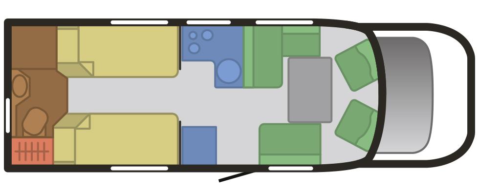 Planritning för McLouis MC4 75.