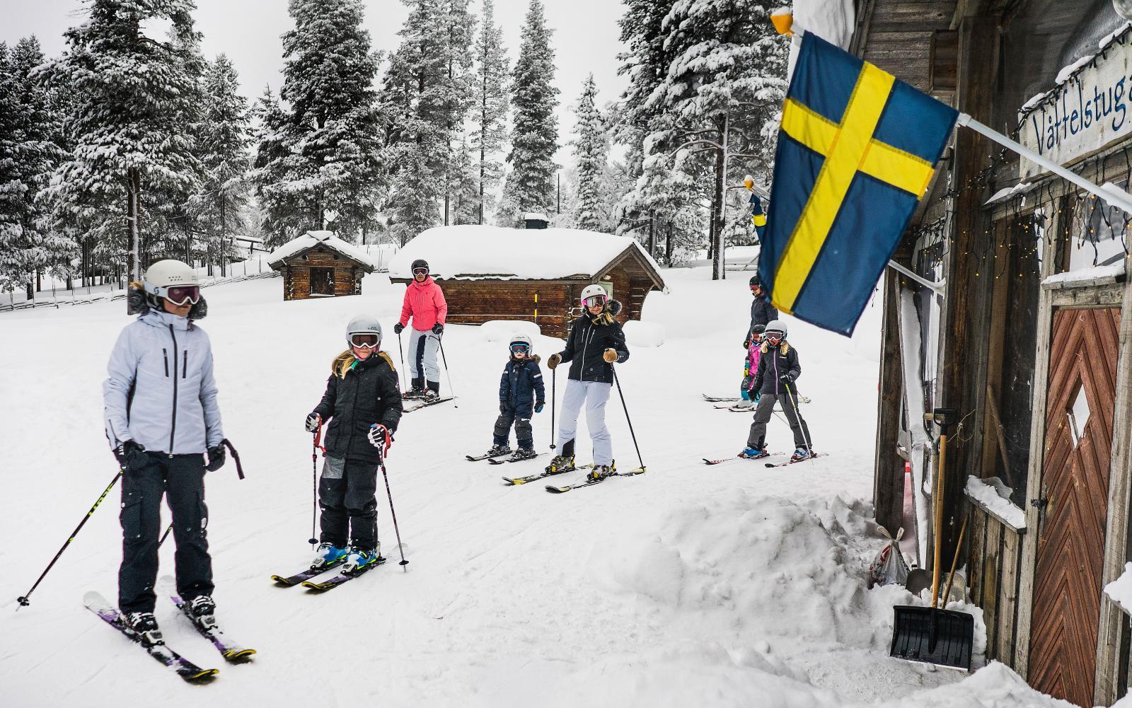 Idre Fjäll är populärt hos barnfamiljer, mycket tack vare relativt kort resväg från stor del av Sverige.
