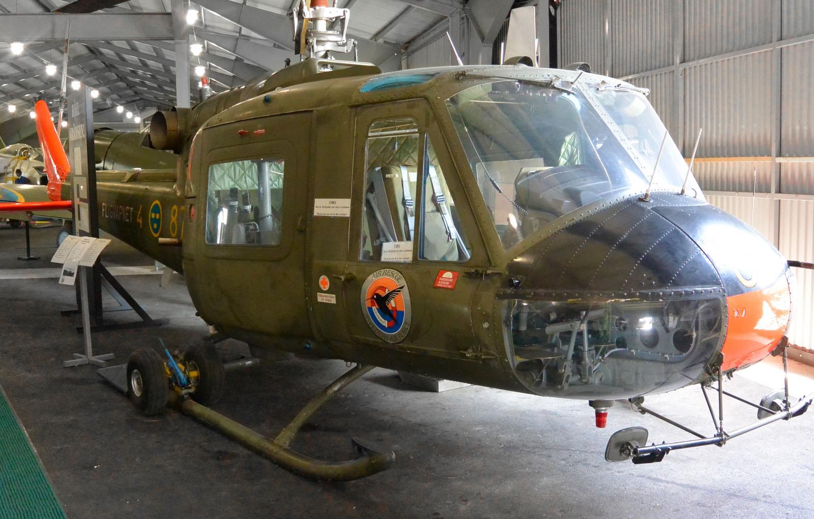 Ett antal helikoptrar finns också att beskåda.
