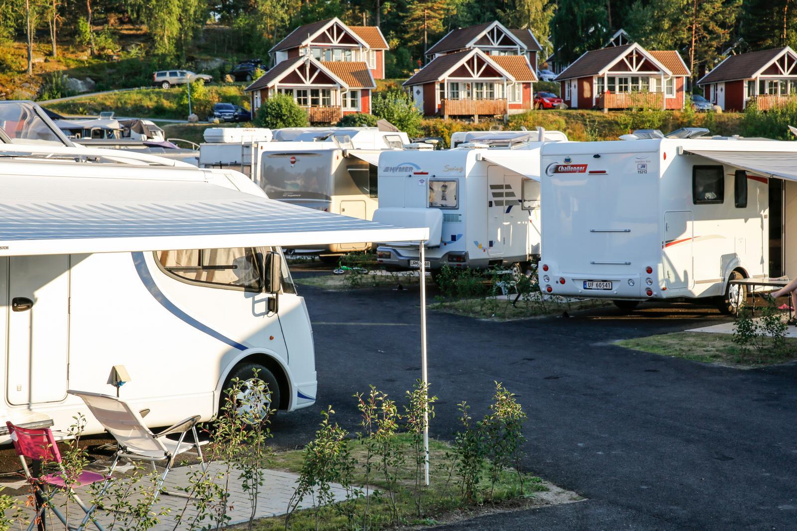 Daftö Resort har välordnade platser, stugor och mycket service.