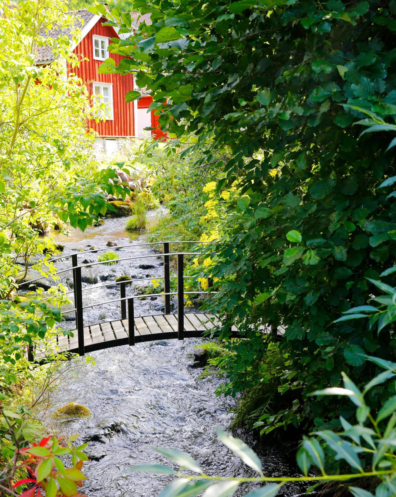 Vattnet är ständigt närvarande i Röttle.