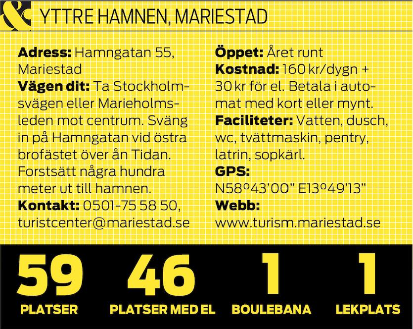 Ställplats Mariestad
