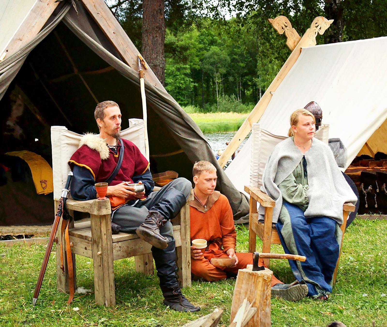 Nysäters vikingating är en årlig begivenhet sista helgen i juli.
