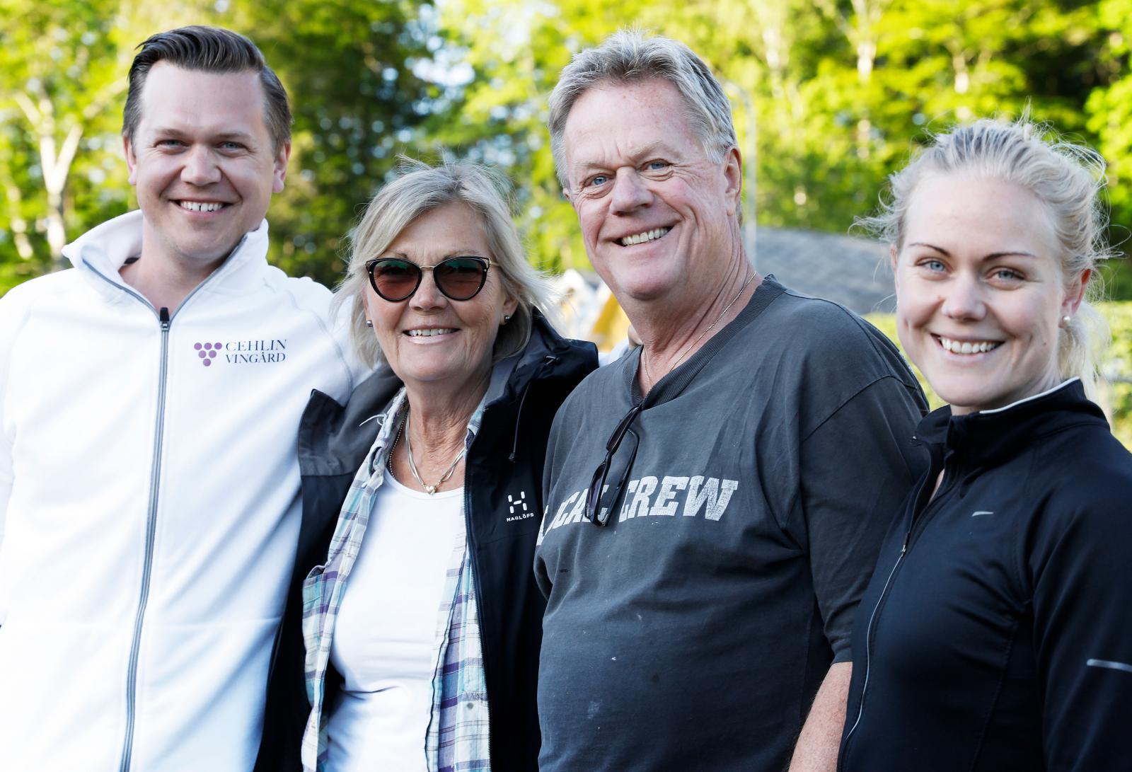 Familjen Cehlin, Viktor, Elisabeth, Tord och Lovisa.