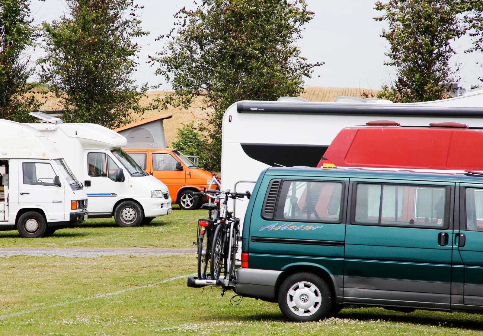 Svenska och utländska fordon besöker Ales.