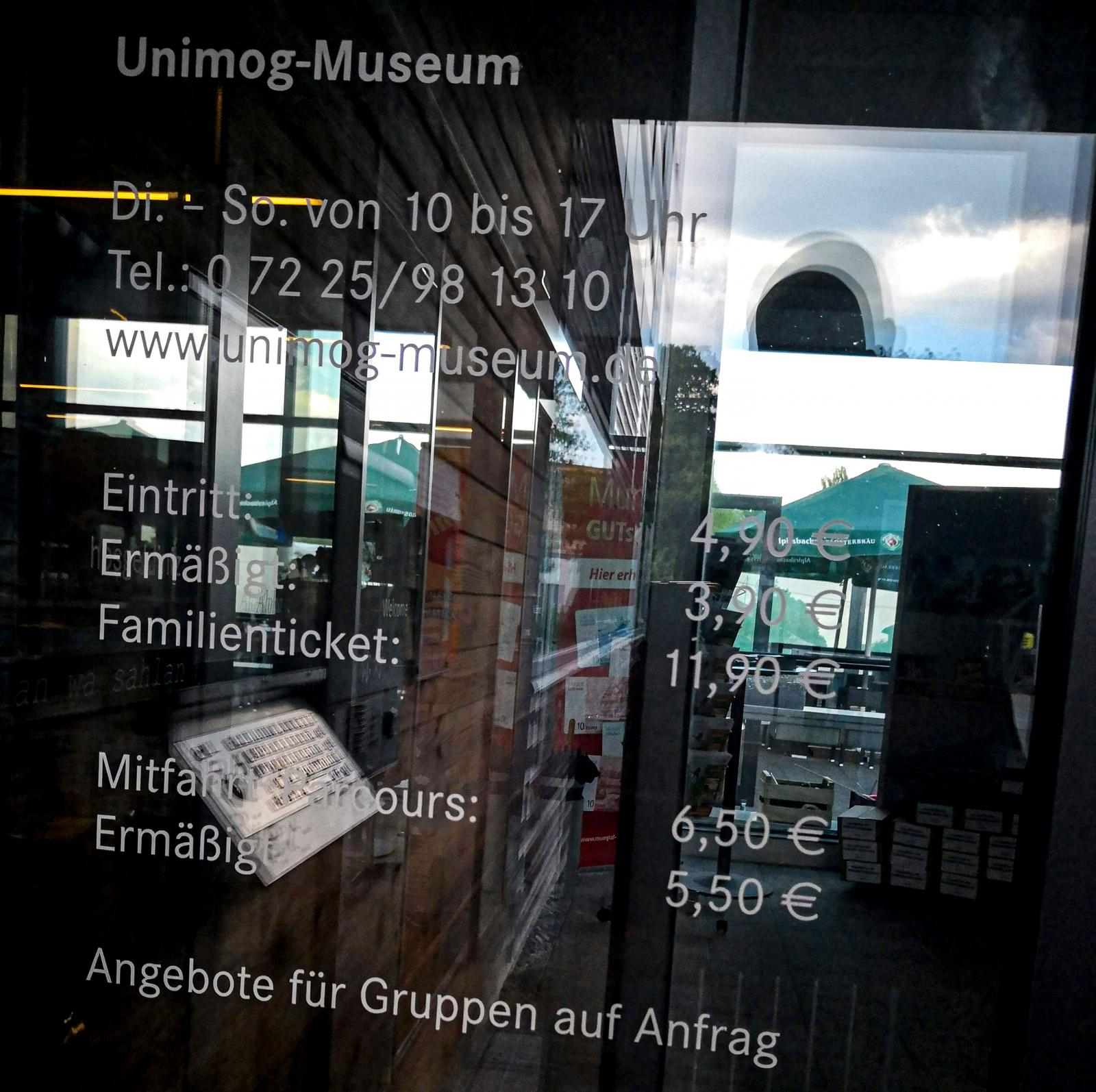 Unimog-Museum är inget jättestort museum men ändå klart intressant då det finns många spännande historier kring varumärket.