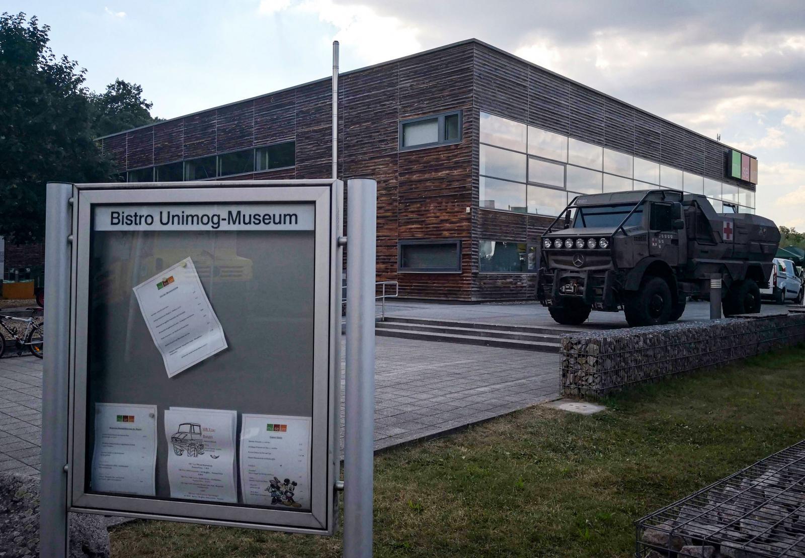 Unimog byggs inte i Gaggenau där museet finns. Sedan 2002 byggs de i Mercedes fabrik i Wörth.