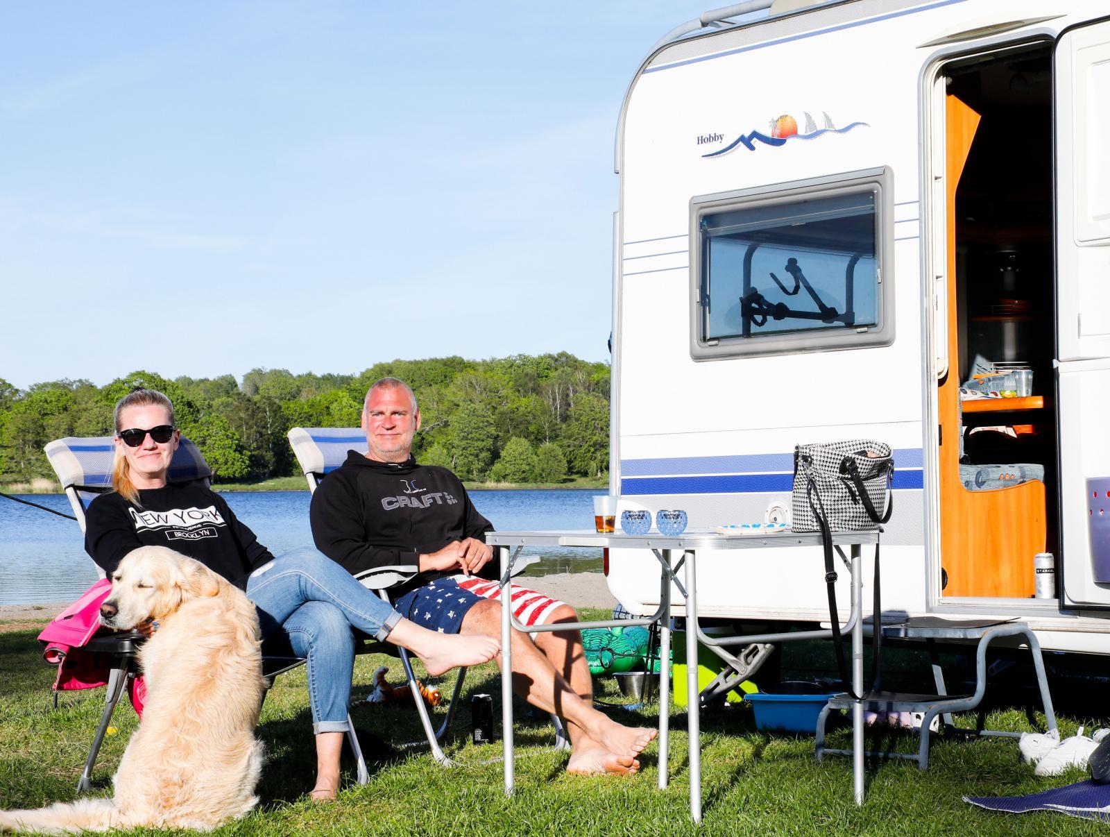 Trivsamt på Ronneby havscamping.