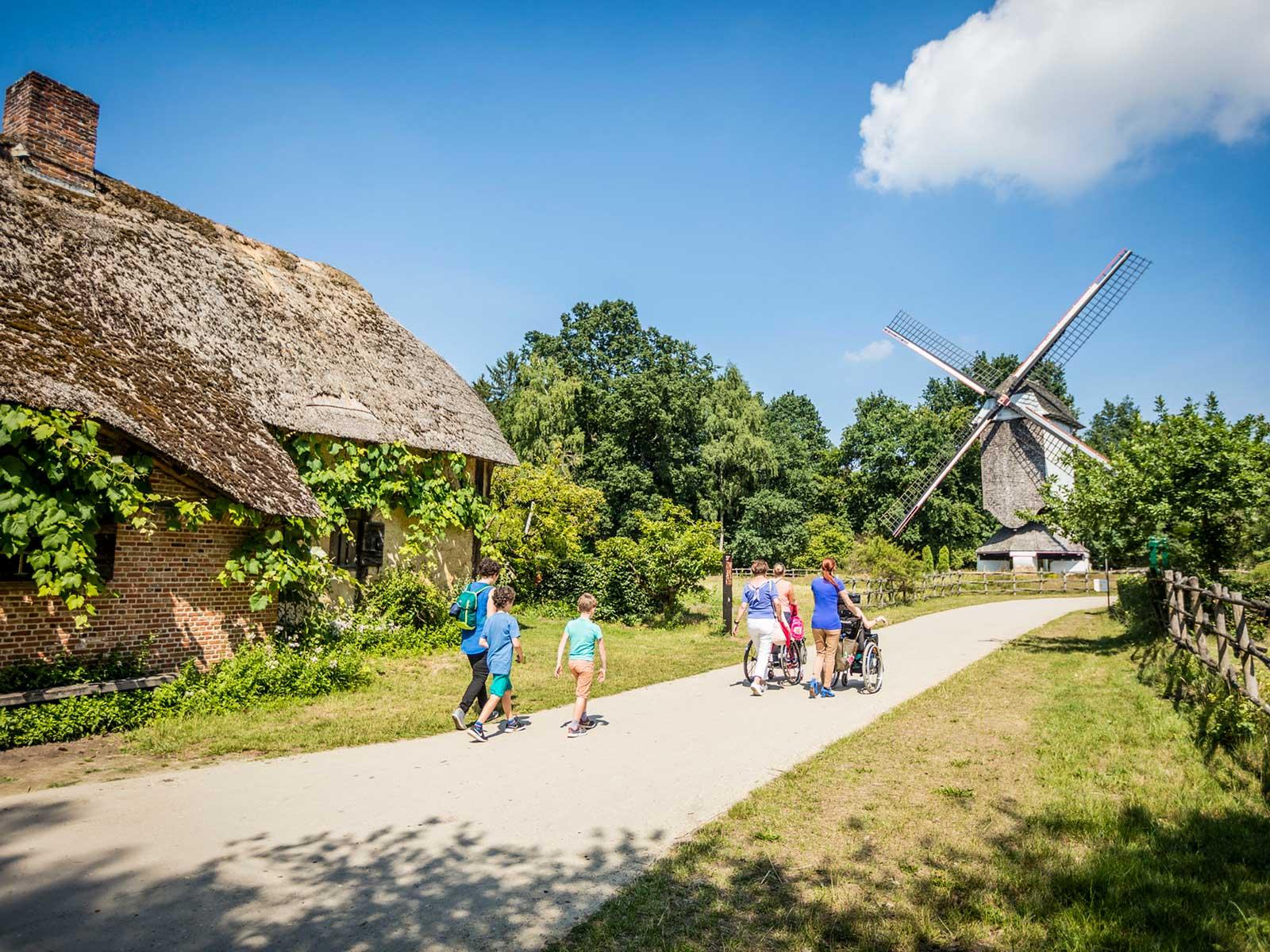 Friluftsmuseet i Bokrijk är ett skogs- och sjöområde på 550 hektar med 19 sjöar. Här finns möjlighet att se hur Belgien fungerade förr i tiden.