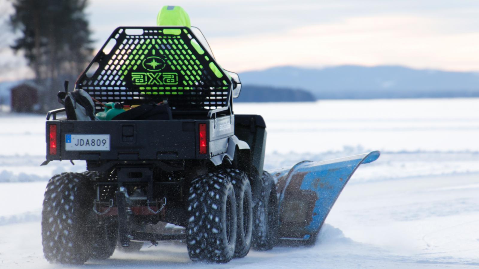 Ideella krafter som håller skridskobanorna öppna från snö.