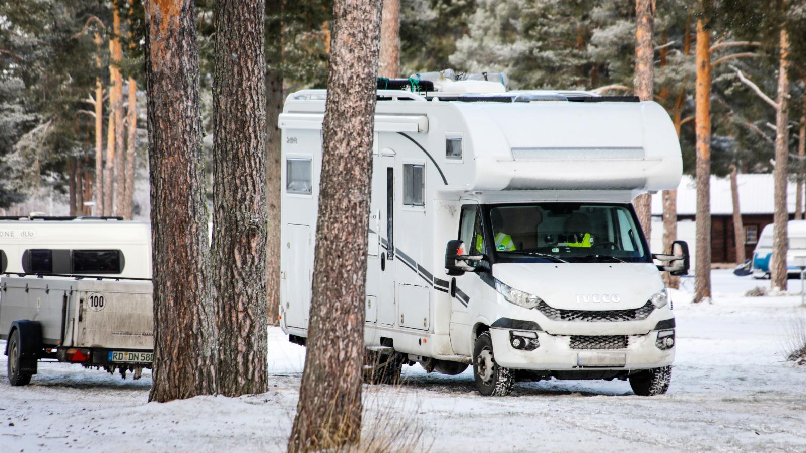 Vintercamping på Orsa Camping.