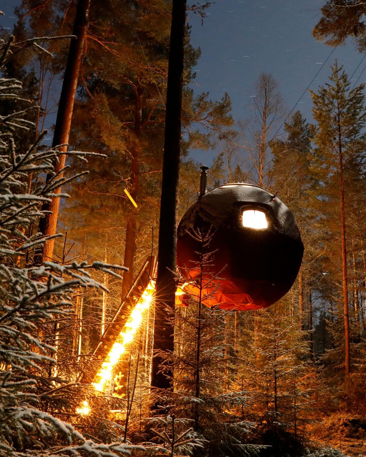 Supermånen på Näsets Marcusgård i Furudal.