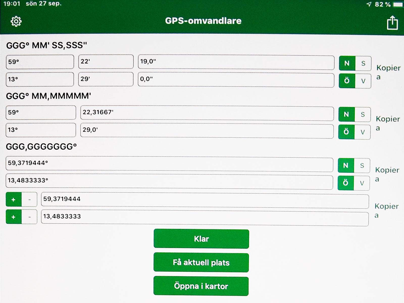 GPS-omvandlaren.