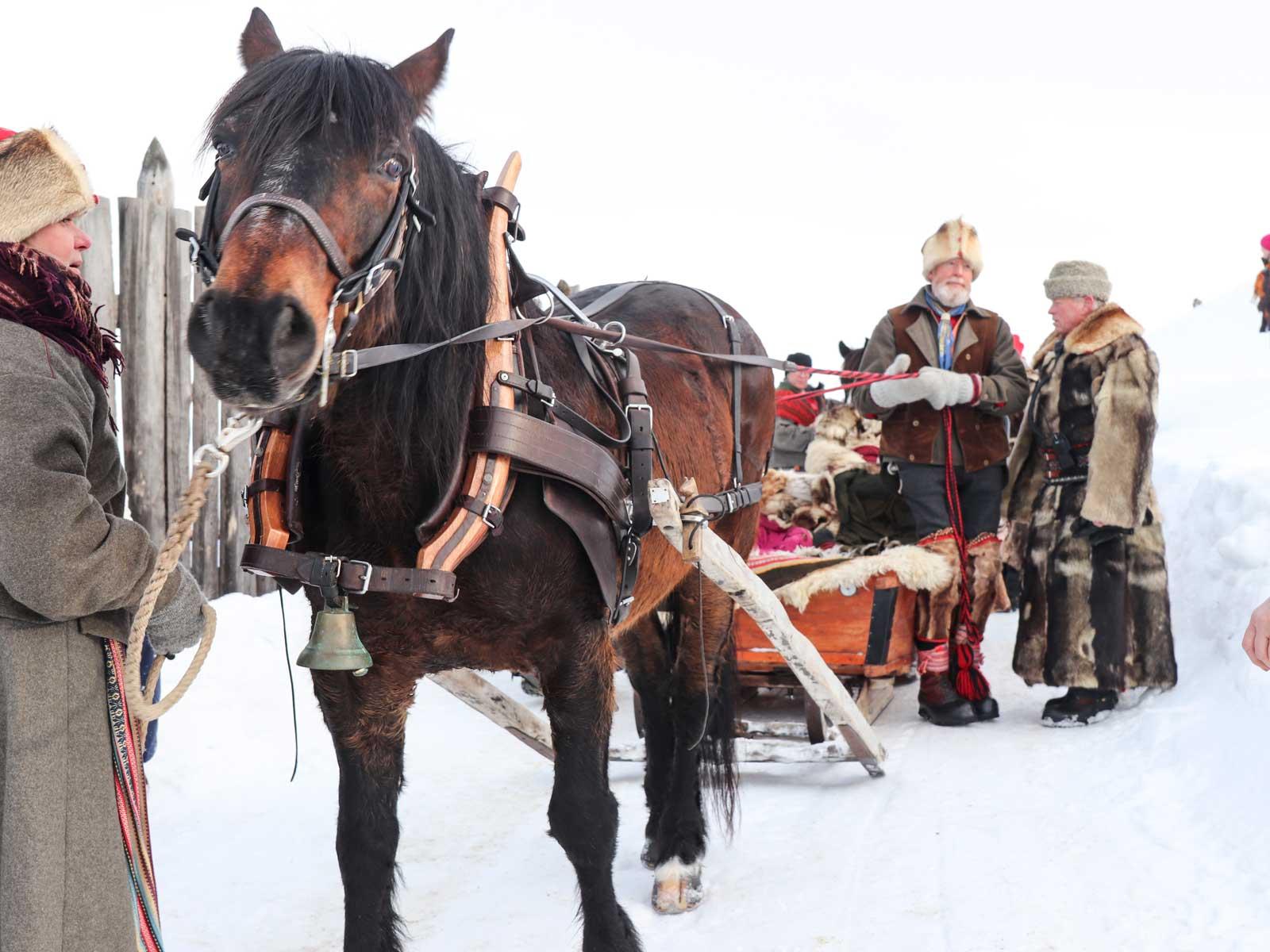 Detta ekipage är från Klövsjö, en resa på sex dagar.