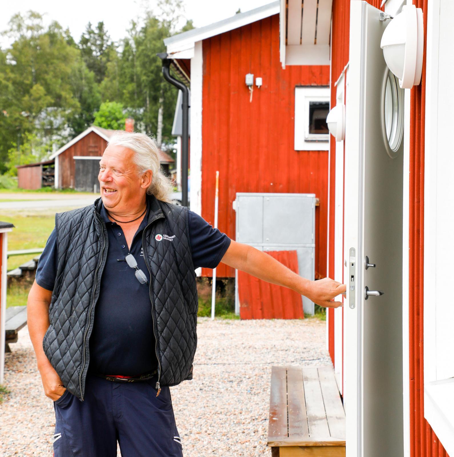Lasse Johansson har tidigare varit värd på campingen, men hjälper numera till vid behov.