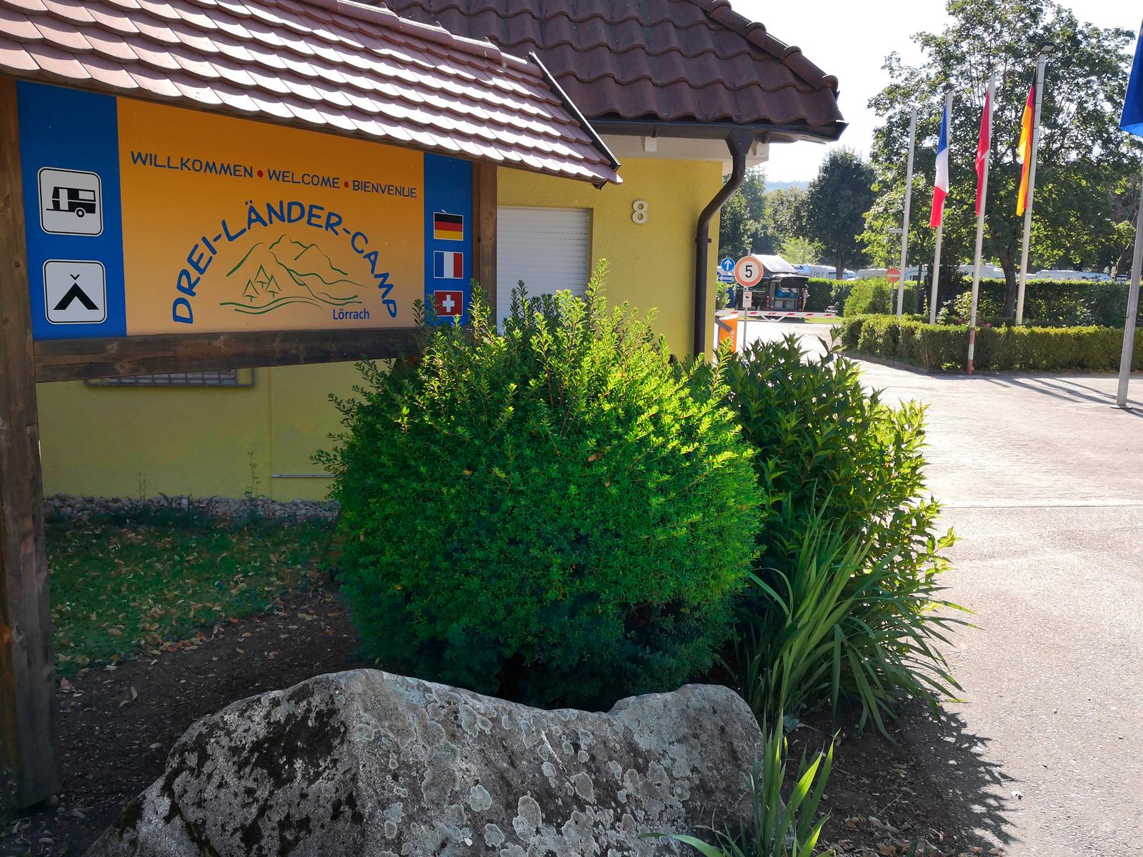 Tre länders camping ligger i Tysklands sydvästra hörn, bara ett stenkast från Frankrike och Schweiz.