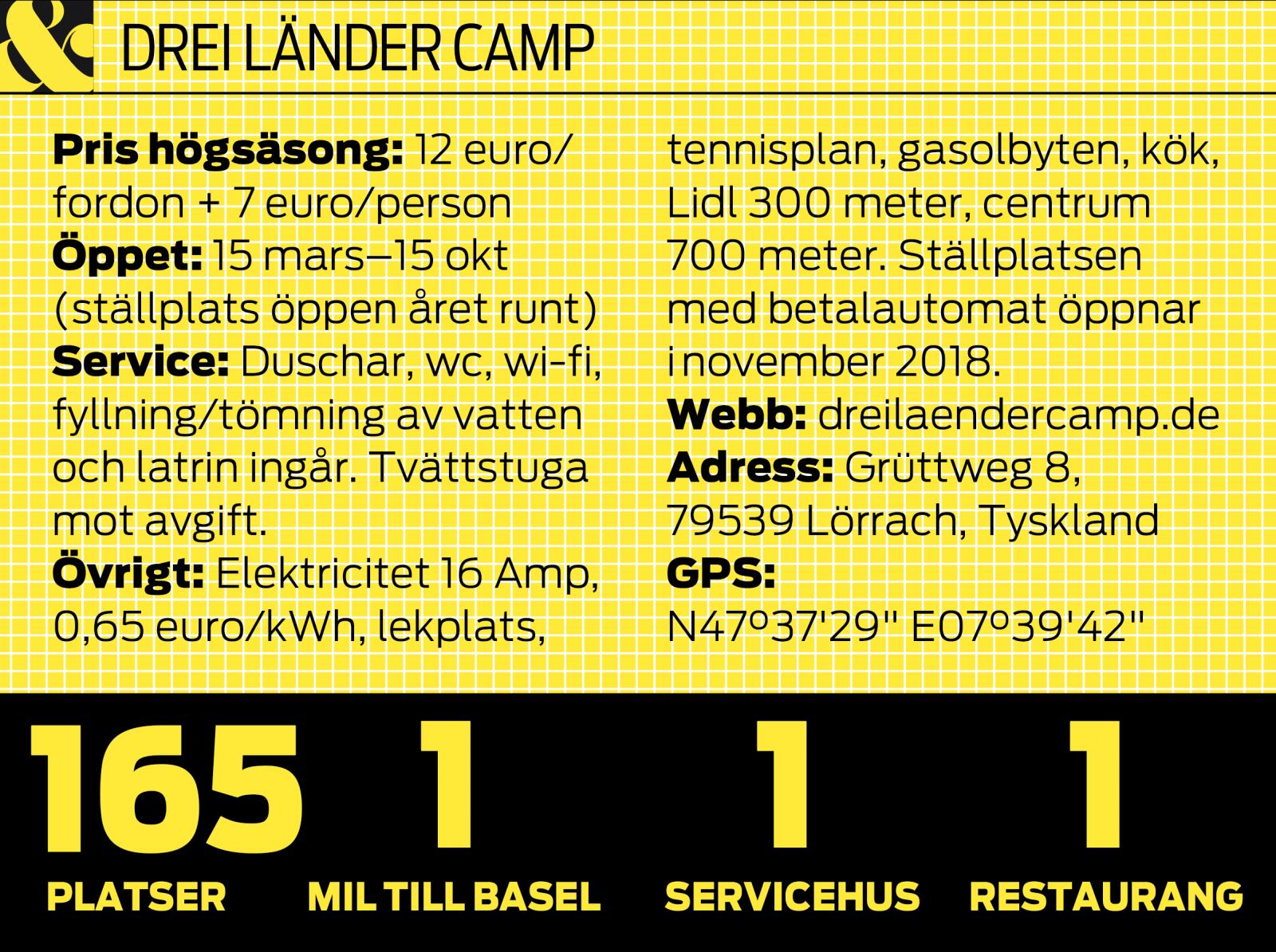 Drei Länder Camp är campingplatsen där du når tre länder på nolltid