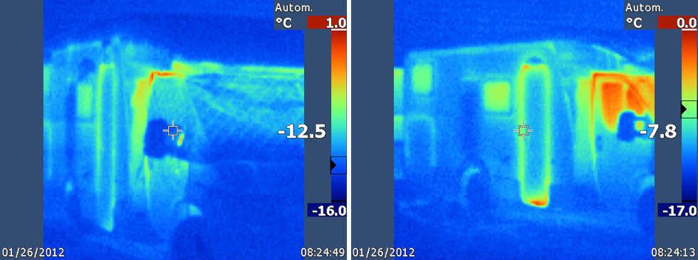 Mer värmeförlust. Tätningarna i dörrarna släpper även ut värmen.