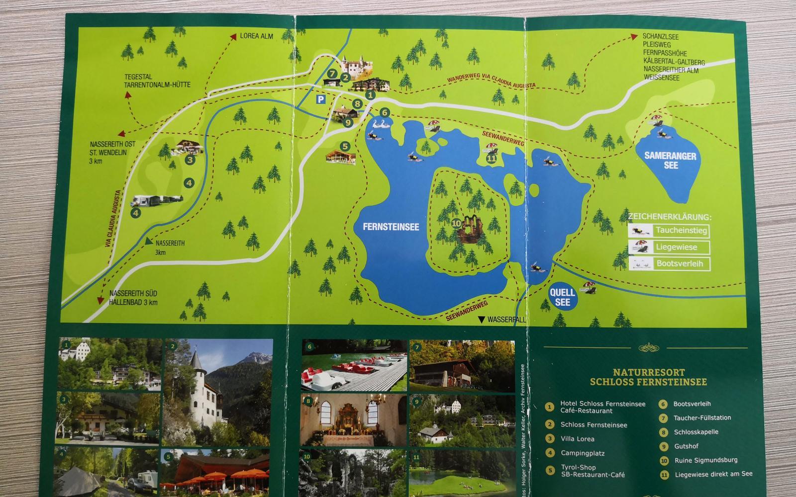 Fernsteinsee och Sameranger See tillhör samma ägare som driver hotell och camping.