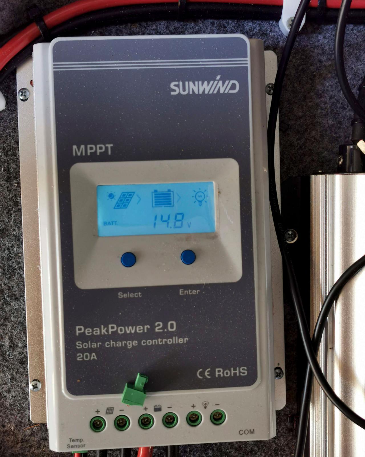 Lätt att glömma. Slå på solcellsregulatorn direkt.