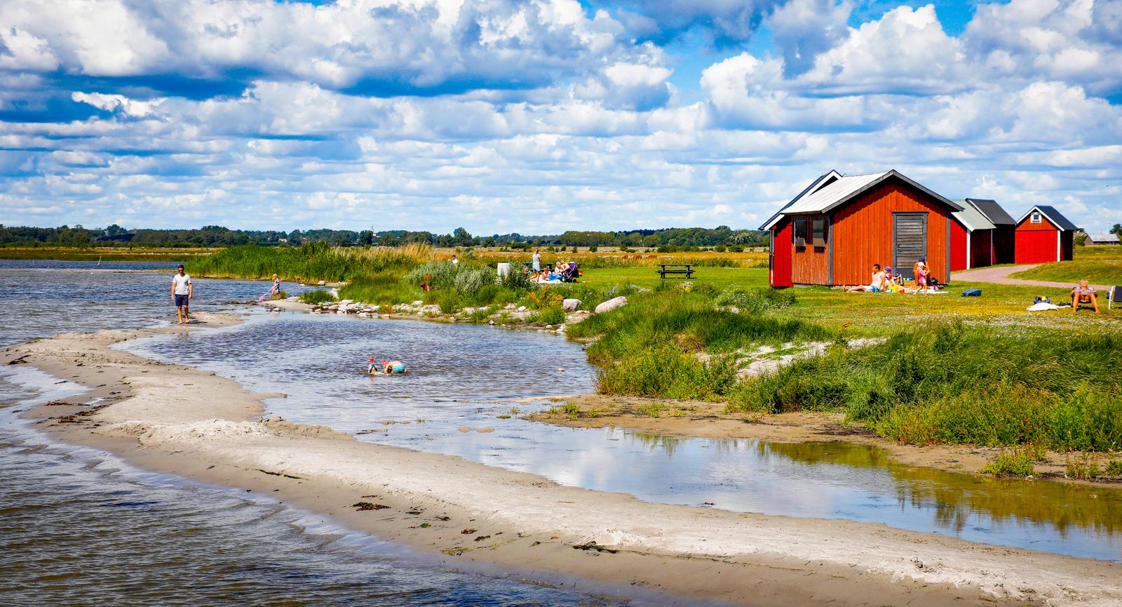 Stillsamma bad vid Kapelludden på Östra Öland.
