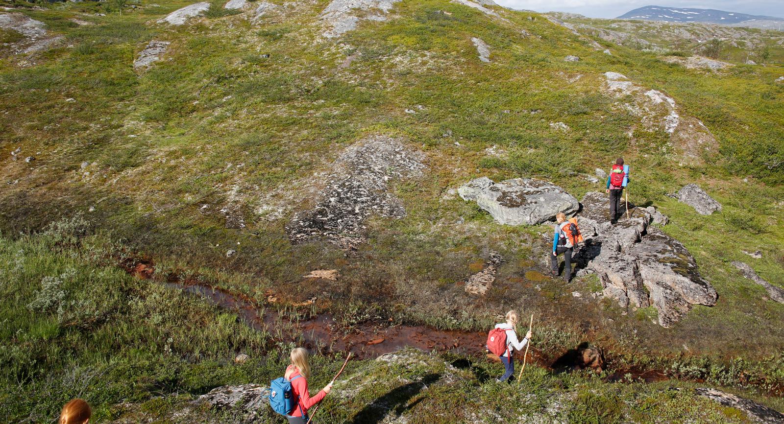 Från Vassijaure håller vi den västra kanten av dalen ända in till Trollsjön.