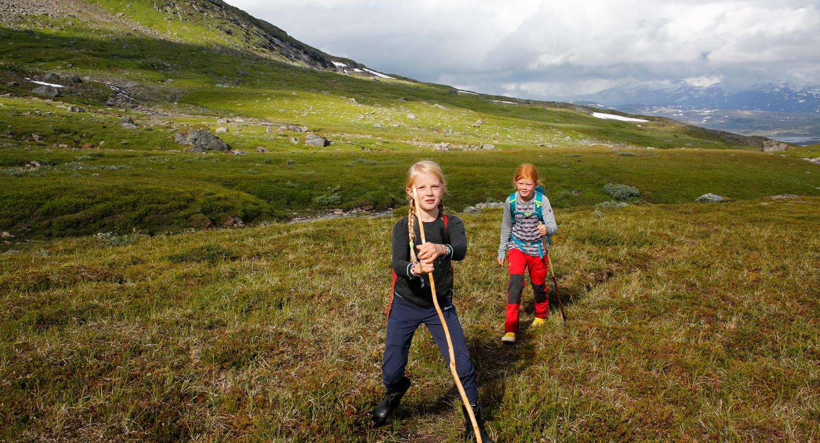 Barn i tioårsåldern klarar att gå upp till Trollsjön galant.