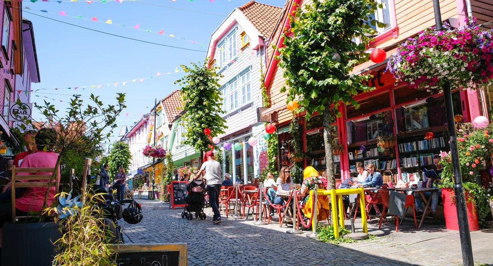 Kontinentalt kaféliv hittar du i Stavangers östra delar.