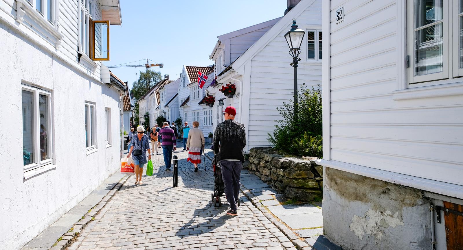 Kullerstensgatorna i stora delar av gamla Stavanger.