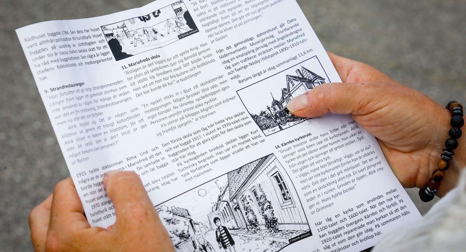 Med hjälp av PAX-böckerna blir stadsguidningen mycket mer spännande.