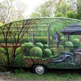 Husvagn för köslippande