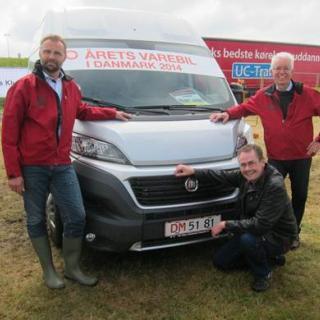 Glada grabbar från Fiat Danmark: Fiat Professional Sales Manager Erik Holm, PR Manager Steffen Holm och  Fiat Professional Regional Manager Kristian Strunge.