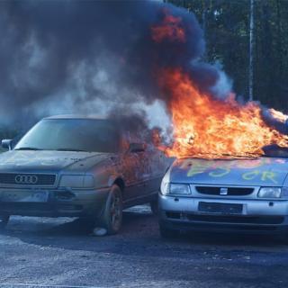 Husvagnsbrand var olycka med gasol