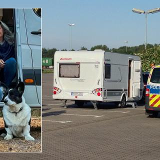 Mikael och Eva Sanfridsson råkade ut för inbrott i husvagnen i Tyskland.
