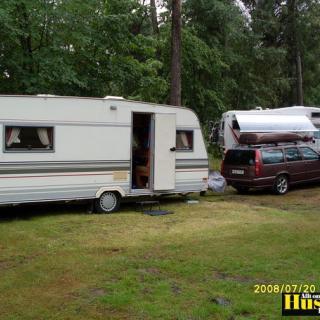 Foto: Cabby 555 F3 Crown 1997.......Volvo V70 2,5T 1999,Trollhättans Camping (Resa)