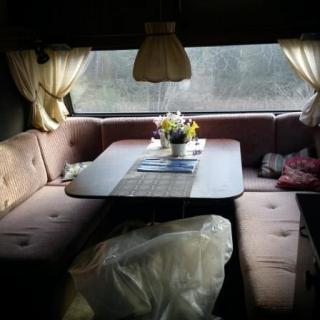 bilder på renoveringen av våran husvagn