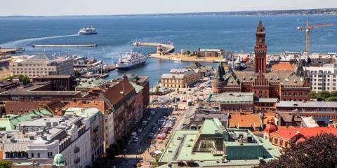 Tunneln kan bli slutet för den reguljära färjetrafiken som funnits mellan Helsingborg och Helsingör sedan mitten av 1800-talet. Foto: Helsingborgs stad