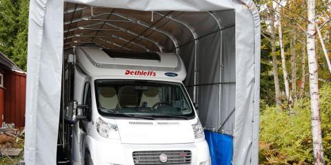När du vinterförvarar husbilen är det viktigt att förebygga för att undvika kondens.