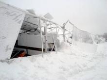 Raserad husvagnsförvaring utanför Piteå